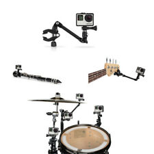 360 Degree Adjustable Music Mount Arm Stand Clip Clamp for GoPro Hero