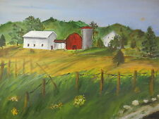 1969 Farm House Oil Painting