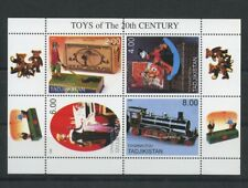 Mickey Mouse Train Toys 20th Century Miniature Sheet 2000 Tajikistan Doll Golfer