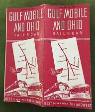 GM&O (Gulf Mobile and Ohio Railroad) 1/15/46 Public Timetable