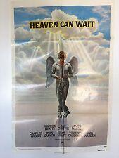HEAVEN CAN WAIT 1978 Original Movie Poster Warren Beaty Julie Christie 1 sheet