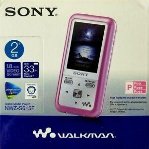 Sony Digital Media Player 2gb Pink Walkman NWZ-S615F