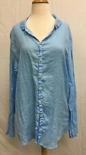 CP Shades Long Linen Tunic Button Down Shirt Top Style 104-3 NEW with Tags!