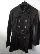 trench veste manteau impermeable 40 Galeries Lafayette coton deperlant noir