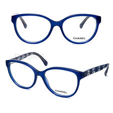 CHANEL 3292 c.1483 Blue Transparent Lace 54/17/140 Eyeglasses Made Italy - New