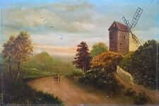 Signed Original Antique Oil Painting English School 20th Century Landscape