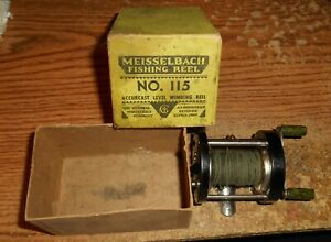 VINTAGE THE GENERAL INDUSTRIES CO. MEISSELBACH NO. 115 CASTING REEL/IN BOX/TOUGH