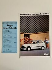 Zastava Yugo Brochure and Price List 1986 & 1987  45,55,311,511,513, Van Models
