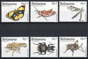 Botswana 2019 Insects, Butterflies 6 MNH stamps