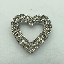 18K White Gold and Diamond Heart Shaped Pendant