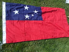 "SAMOA SAMOAN Vintage National Country Cloth Flag 69""x33"" Good Condition"