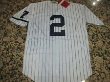 NEW!!! Derek Jeter New York Yankees White Stitched Pinstripe Baseball Jersey 3XL