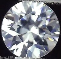 3.06 CT AAA Natural White Zircon Diamonds Round Cut 8mm VVS Loose Gemstones