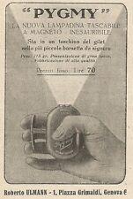 Z2302 PYGMY la nuova lampadina tascabile - Pubblicità 1928 - Vintage advertising