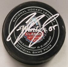 COLTON PARAYKO SIGNED 2017 WINTER CLASSIC OFFICIAL GAME HOCKEY PUCK 1008173