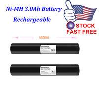 2X Floureon Ni-MH 3Ah Battery 3.6V for Streamlight 75175 ST25170 Stinger HP75302