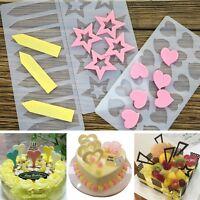 Heart Shape Star Silicone Mold Chocolate Fondant Candy Cake Decor Sugarcraft New