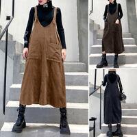 ZANZEA Women Summer Tank Dress Suspender Skirts Dress Long Shirt Dress Plus Size