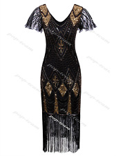 Retro 1920s Costume Womens Flapper Gatsby 20s Party Prom Evening Dress Plus Size