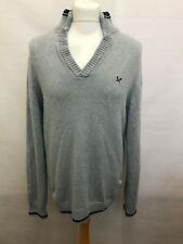 Crew Clothing Jumper Mens Sweater Jacket Size L Large - Grey