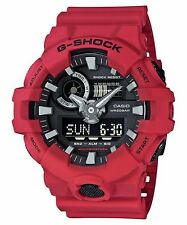 GA-700-4A Red G-shock Men's Watches Analog Digital Resin Band New
