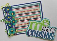 Crafecafe Handmade Embellishment Die Cut 4 Cards Scrapbook pages Cousins