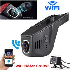 HD 1080P Hidden WiFi Car DVR Dual Lens Vehicle Camera DashCam Video Recorder App
