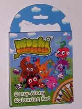 Moshi Monsters llevar a lo largo de la coloración Set Mini Colorante Libro Y Lápices de Colores Set