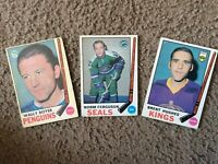 OPC HOCKEY LOT of 3 cards 1969-70