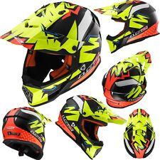 LS2 Helm MX437 FAST VOLT schwarz gelb orange Enduro Crosshelm Offroad L 59/60