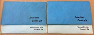 1982 and 1983 P & D 10 Coin Souvenir Uncirculated Mint Sets with Envelopes