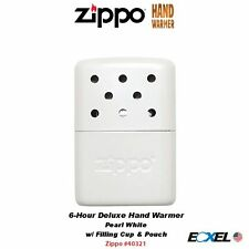 Zippo 40322 Hand Warmer, Pearl White, 6-Hour, with Filling Cup & Bag