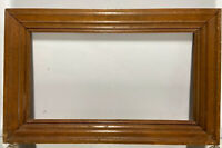 "VTG. Mid Century Wood Picture Frame Fits 9""x 16 1/2"""
