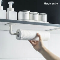 2pcs No Drilling Paper Roll Holder Organizer Wall Mount Hanger Bathroom Kitchen