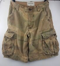 ABERCROMBIE Kid's Green Army milirtary Short Cargo Taille 16