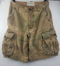 Abercrombie Kid's Green Army Milirtary Cargo Shorts Size 16