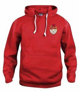 Wrexham 1960s Retro Football Hoodie Embroidered Crest S-XXXL Free UK Delivery