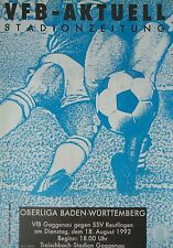 Programm 1992/93 VfB Gaggenau - SSV Reutlingen
