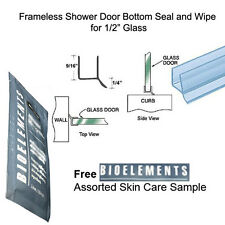 "Shower Door Dual Durometer PVC Seal & Wipe 1/2"" Glass - 31"" long w/ Bioelements"