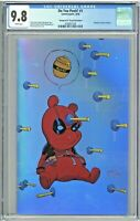 Do You Pooh #1 CGC 9.8 Deadpool 1 Virgin Foil Edition Skottie Young Cover Homage