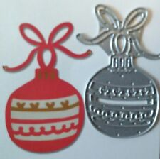Sizzix Die Cutter CHRISTMAS BAUBLE ORNAMENT Thinlits fits Big Shot Cuttlebug