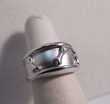Lisa Welch Designer Sterling Silver.925 Dog Bone Band Size 10 SALE!  sr96