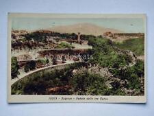 SUBIACO veduta Tre Curve Roma vecchia cartolina
