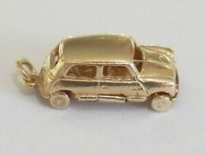 9ct Yellow Gold Morris Minor Car Charm 5.7 grams Fully Hallmarked Item A5751