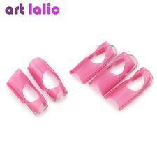 5Pcs/Set Reusable PINK Nail Protector Clip For Acrylic UV Gel Tips Tool Supplies