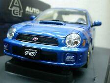 WOW EXTREMELY RARE Subaru Impreza WRX STi 2001 RHD Blue m 1:18 Auto Art-WRC/2006