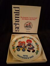 Schmid •1976 • Raggedy Ann & Andy Mothers Day Plate • Original Box • Excellent •