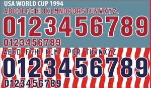 USA 1994 Home/ Away Football Shirt Nameset Any Name & Number