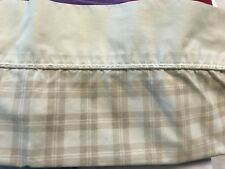 00004000 Laura Ashley Set Of Standard Pillowcases Ivory Beige Tan Brown Plaid
