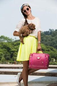 Pu Fabric Red Fashion Petcare Fabric Crocodile Pattern Pet Dogs Carrier Bag